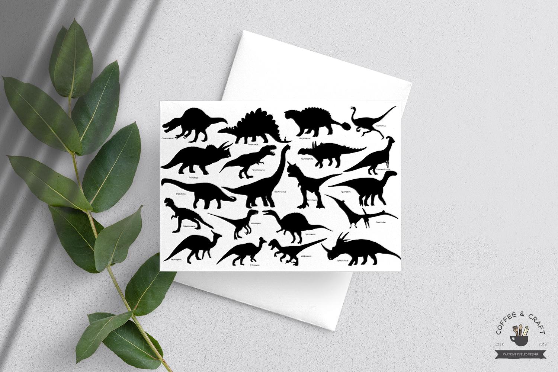Dinosaur Silhouette set example image 5