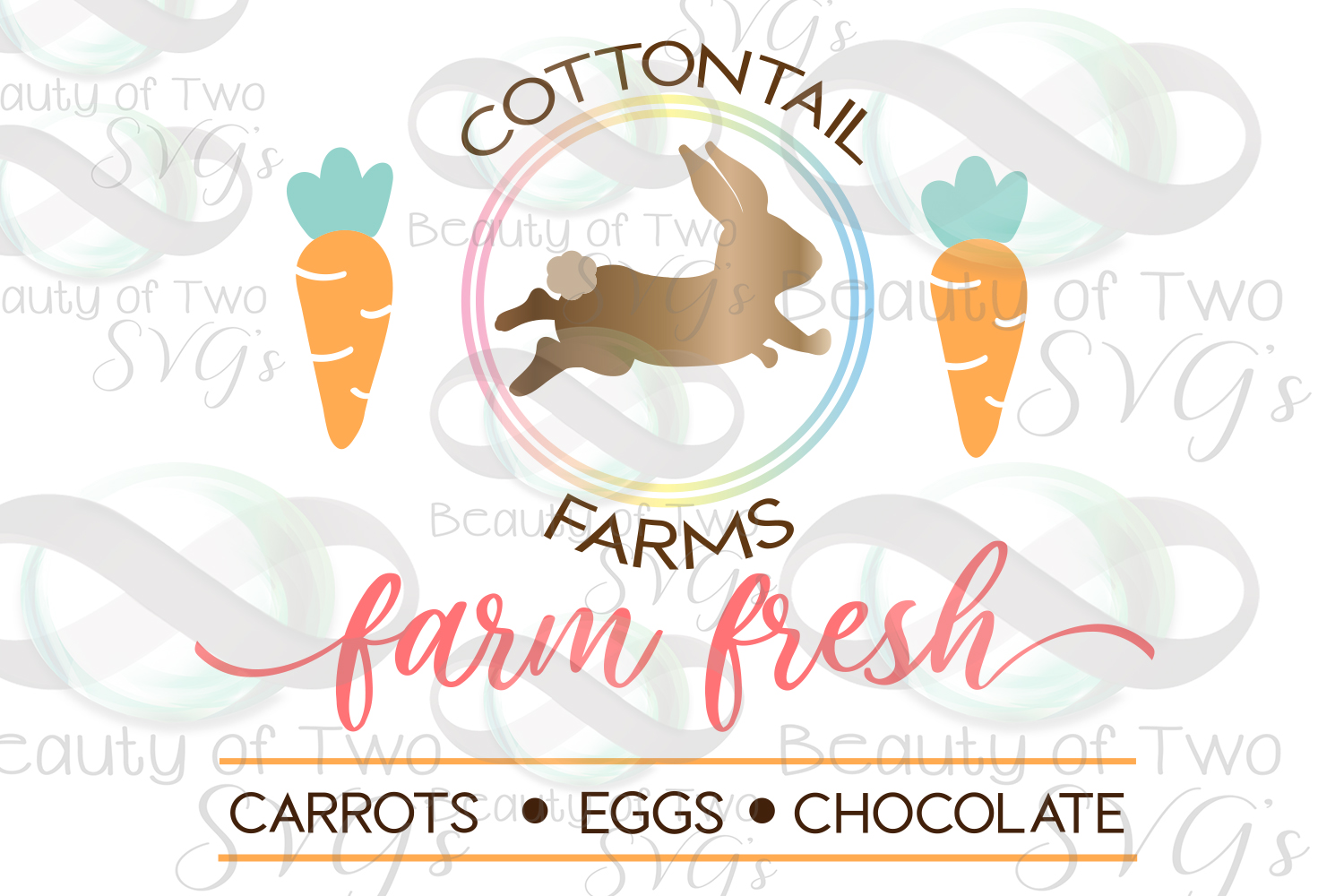 Cottontail Farms svg & png, Farmhouse Easter svg example image 2