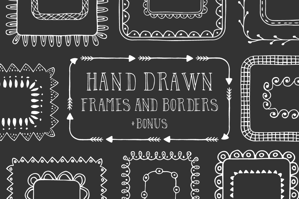 Hand drawn frames and borders example image 1