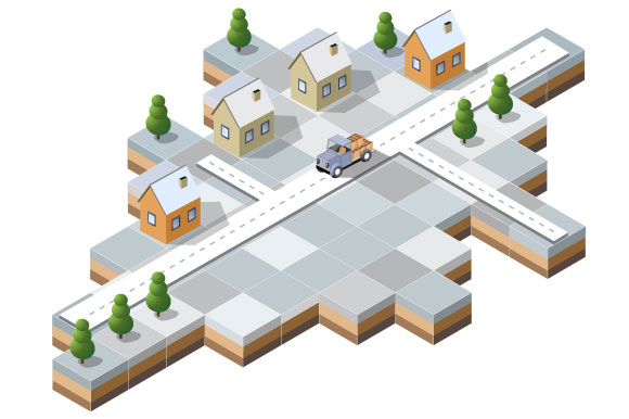 Vector Christmas town example image 1