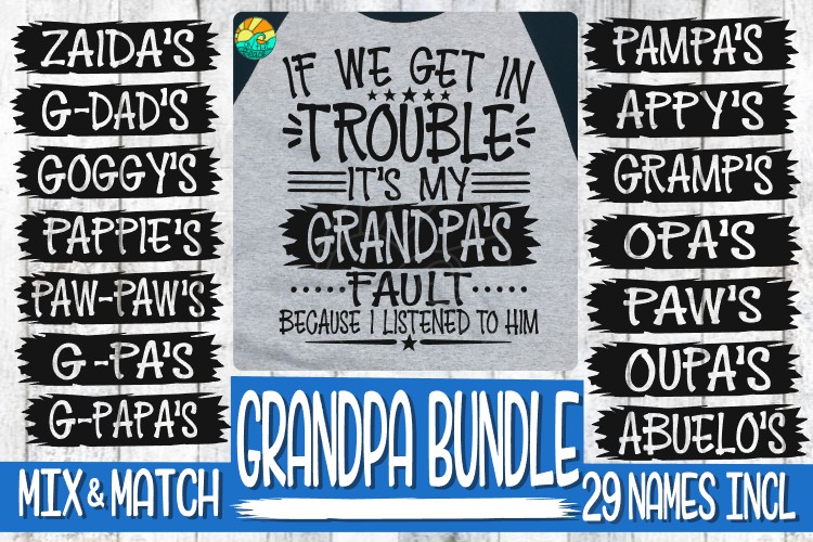 Trouble - It's My Grandpa's Fault -BUNDLE - 29 Names Incl example image 2