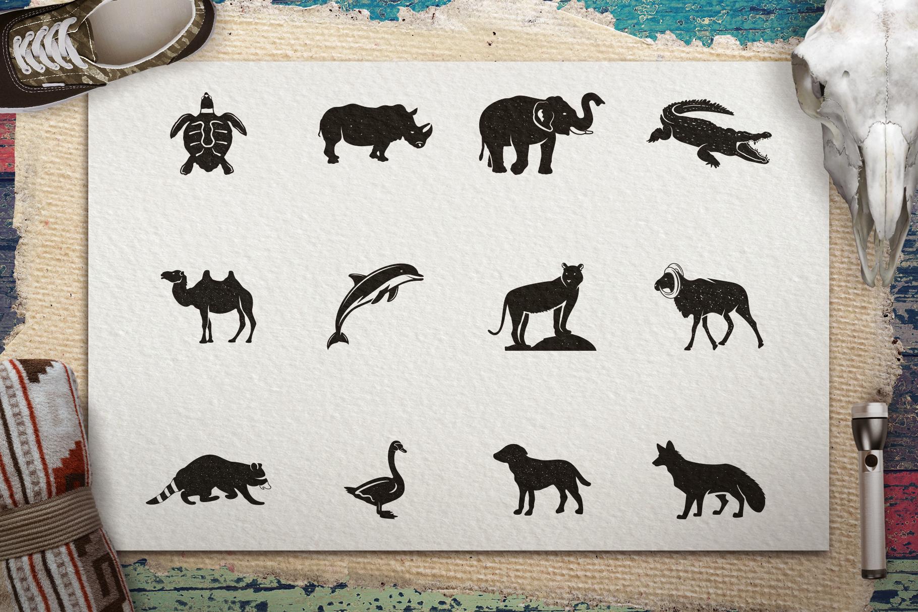 12 Wild Animals Badges Part 2 example image 4