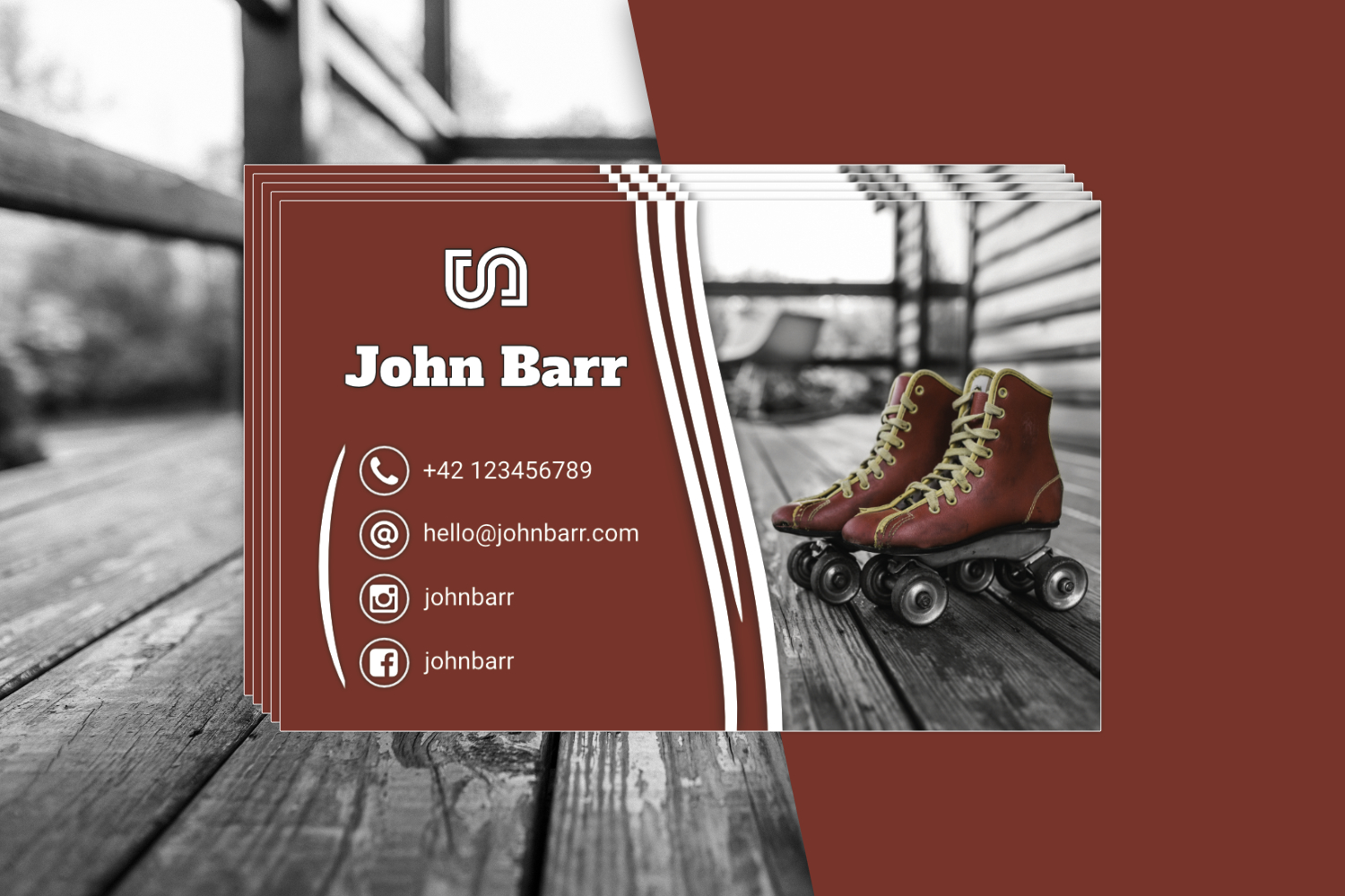 12 Sport Business Card Templates example image 4