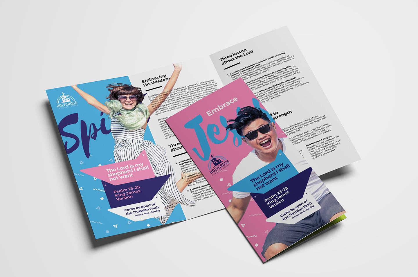 Easter Service Tri-Fold Brochure Template example image 1