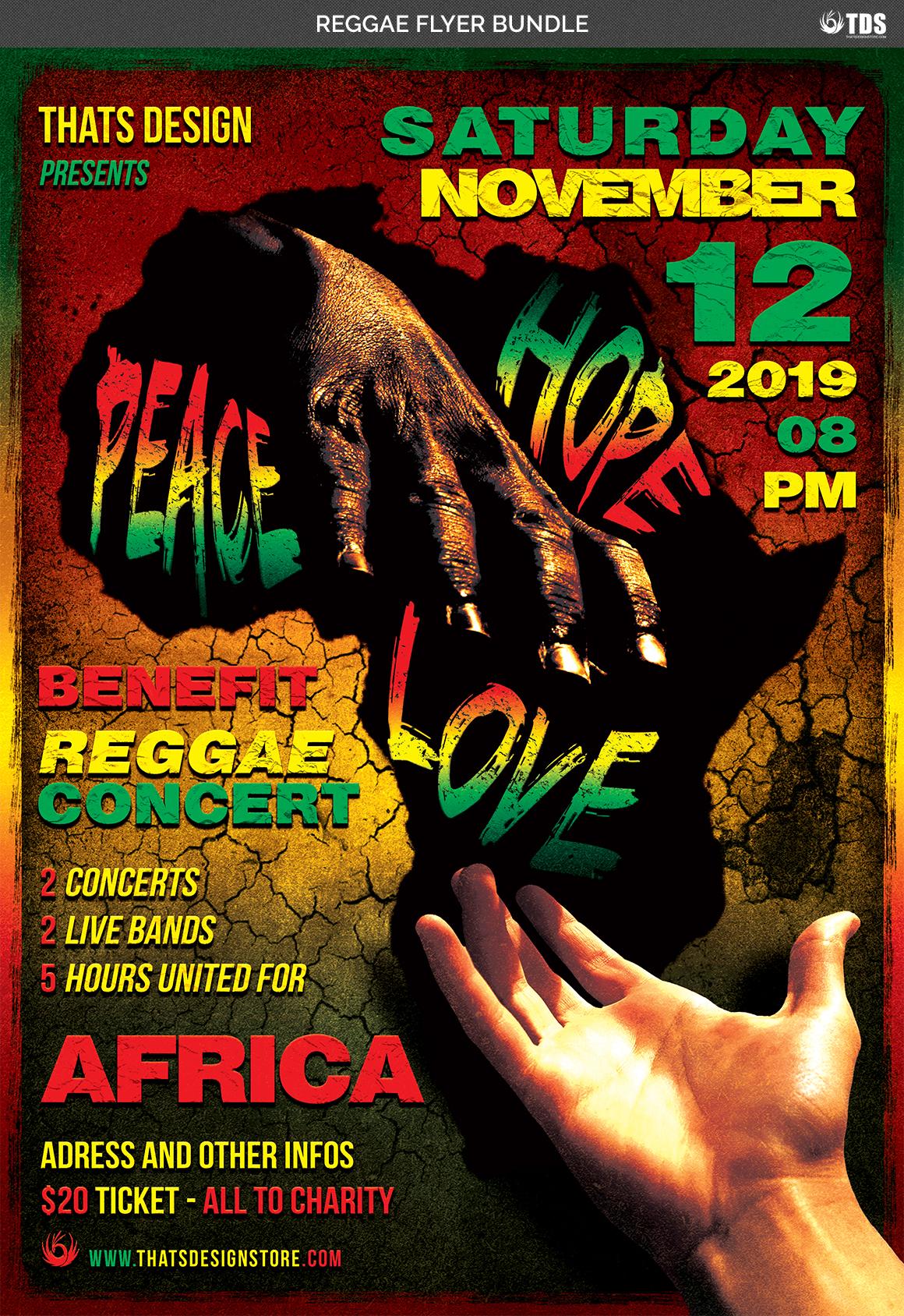 Reggae Flyer Bundle example image 7