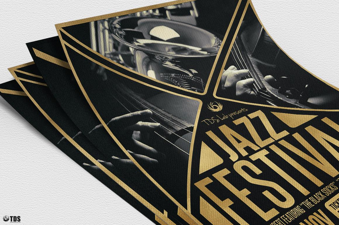 Golden Jazz Flyer Template example image 4