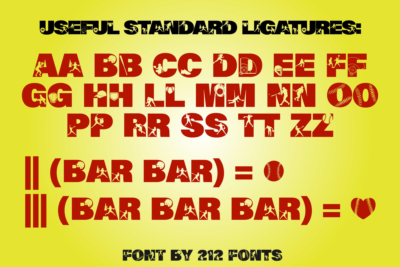 212 Softball Caps Display Font Softball Player Alphabet OTF example image 8