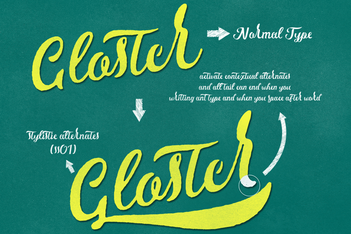 Gloster Typeface example image 2