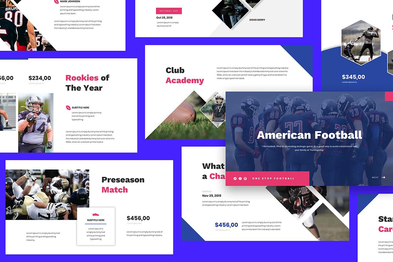 American Football Google Slides example image 4