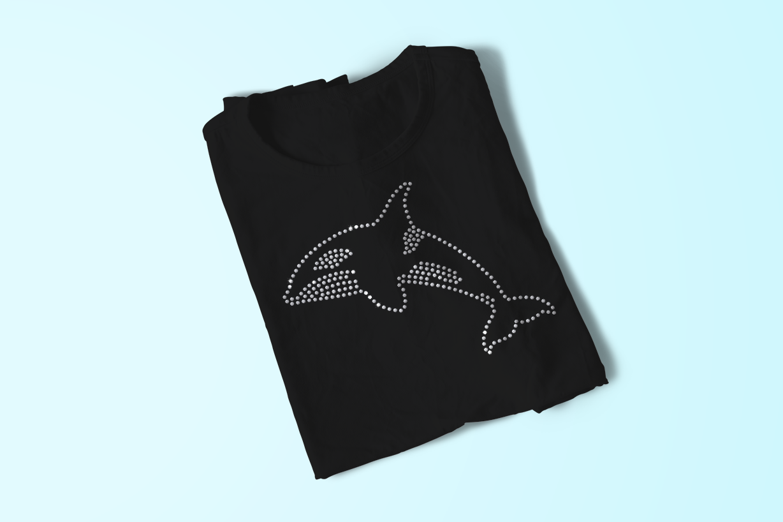 Rhinestone Killer Whale SVG File Template example image 1