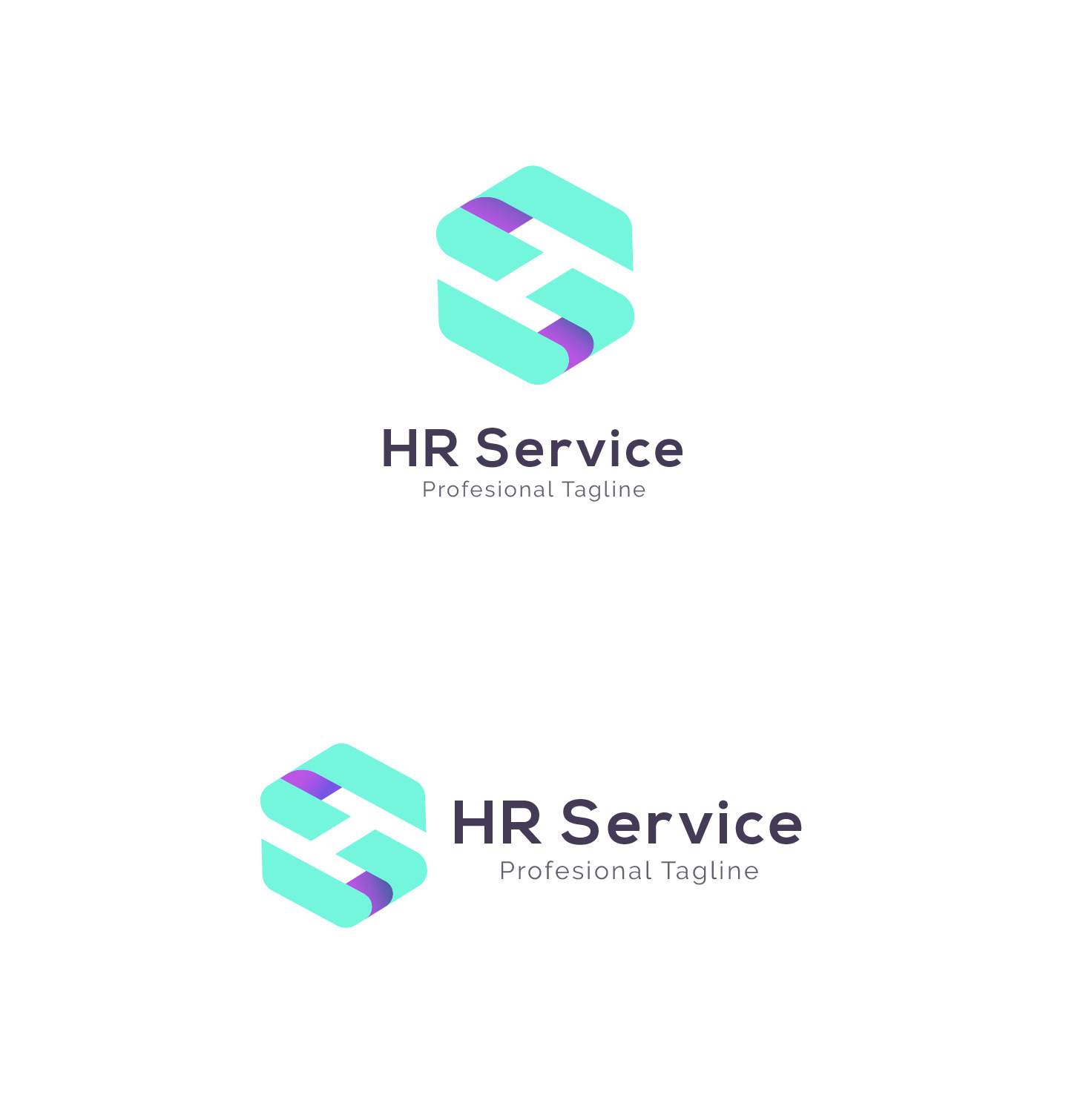HR Service - H S Letter Logo example image 2