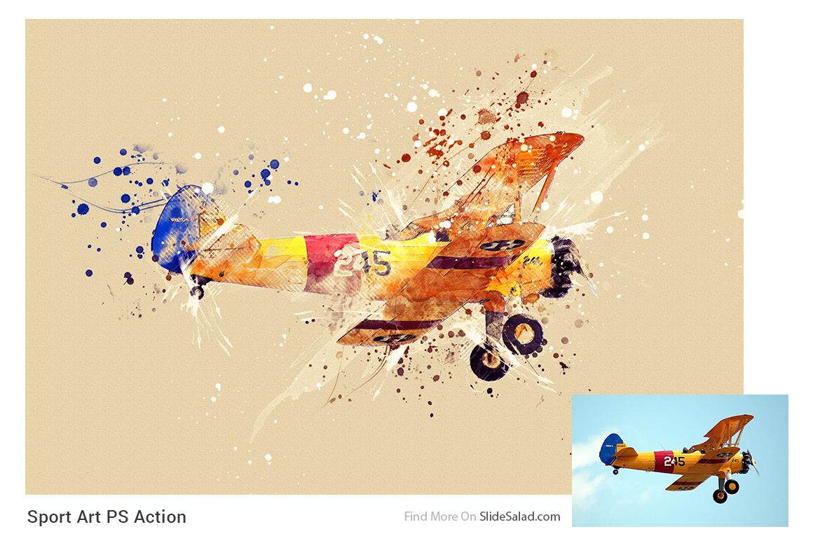 Sports Modern Art Photoshop Action example image 16