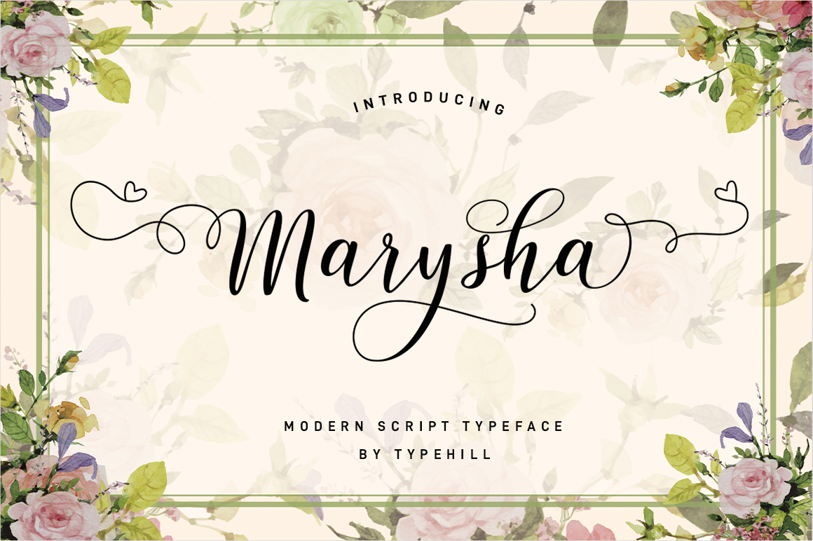 Marysha Script example image 3