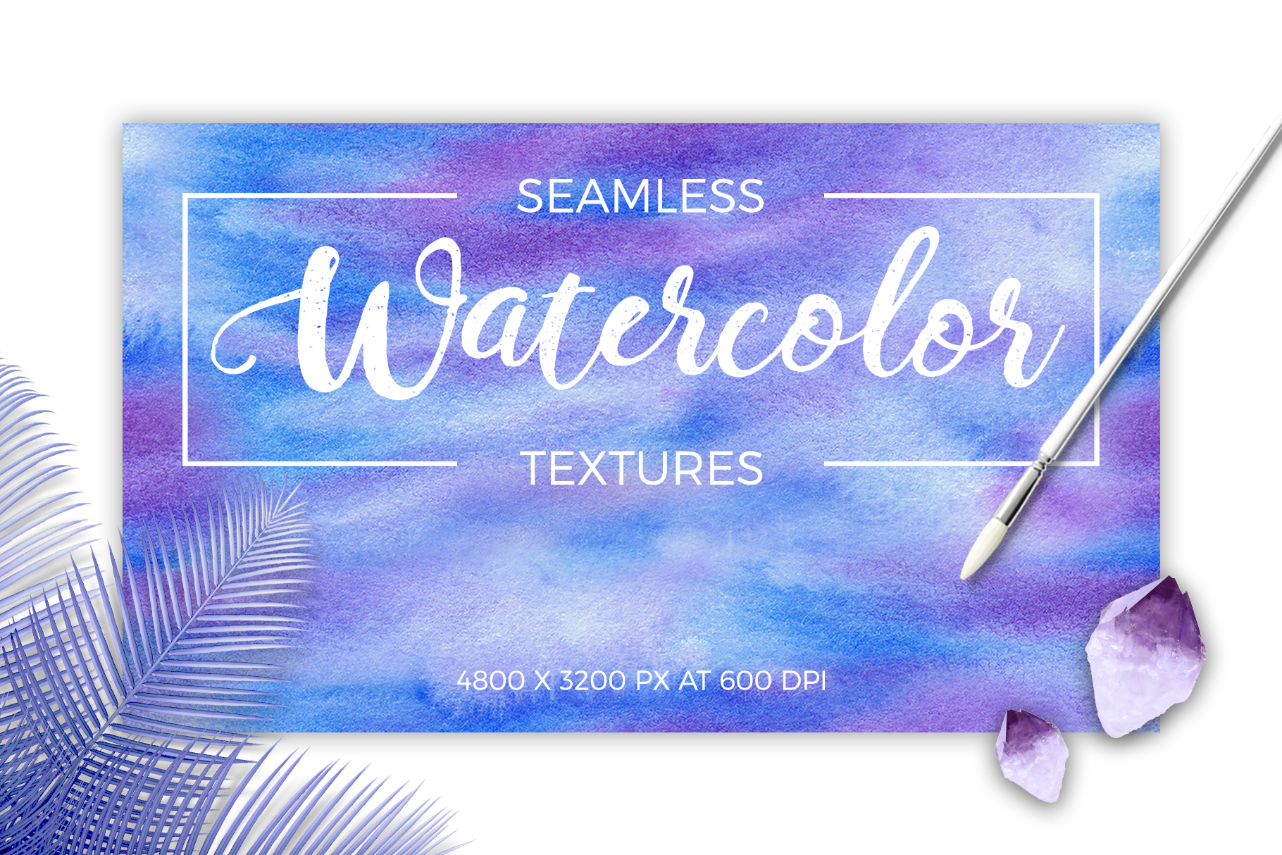 Watercolor Hand Drawn Seamless Textures example image 1