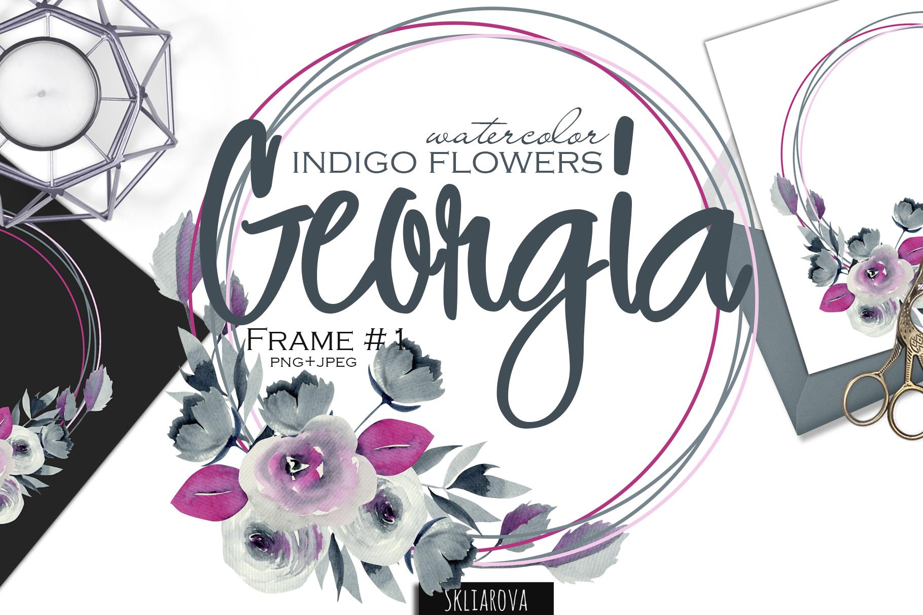Georgia. Indigo frame #1. example image 1