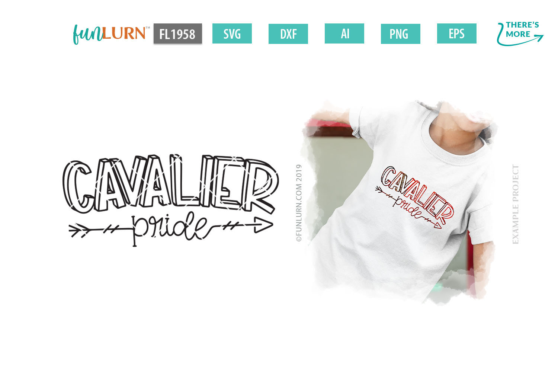 Cavalier Pride Team SVG Cut File example image 1