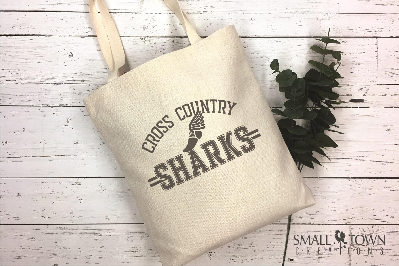 Sharks Cross Country, Shark mascot, PRINT, CUT, DESIGN example image 4