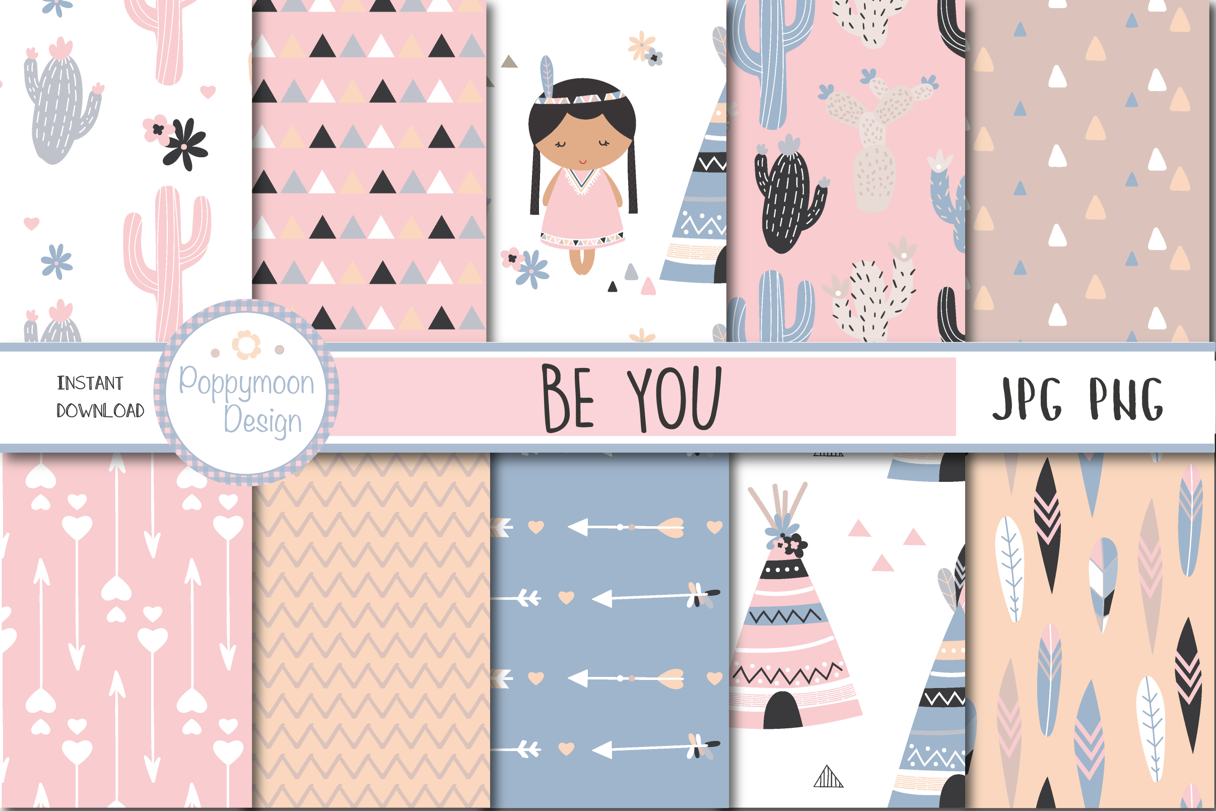 Be You-Tribal girls pack example image 4