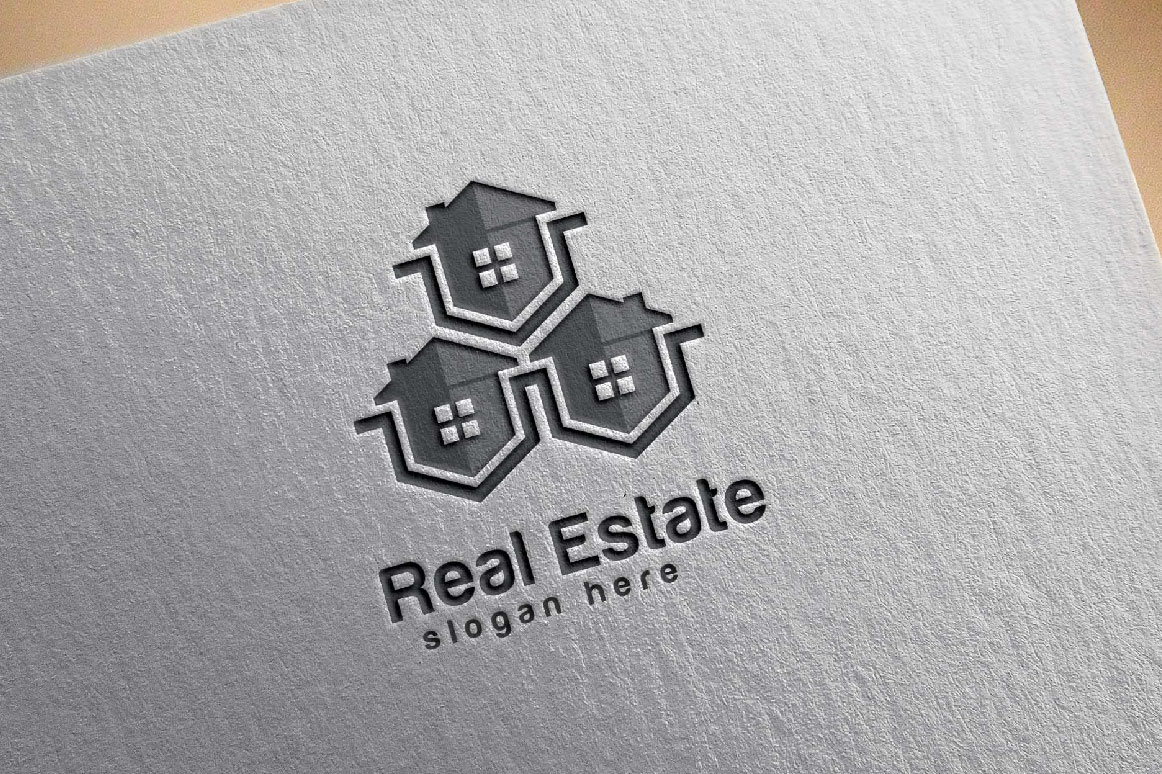 Real Estate logo, Abstract home logo example image 4