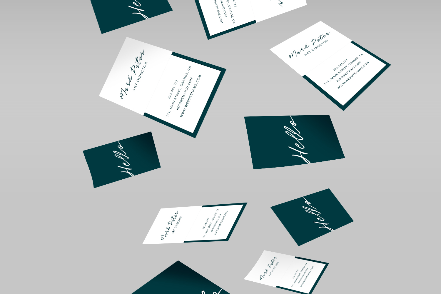 Professional hello script business card example image 2