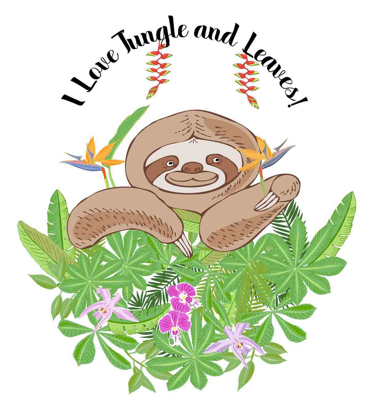 Sloths in Jungle Digital Clipart example image 6
