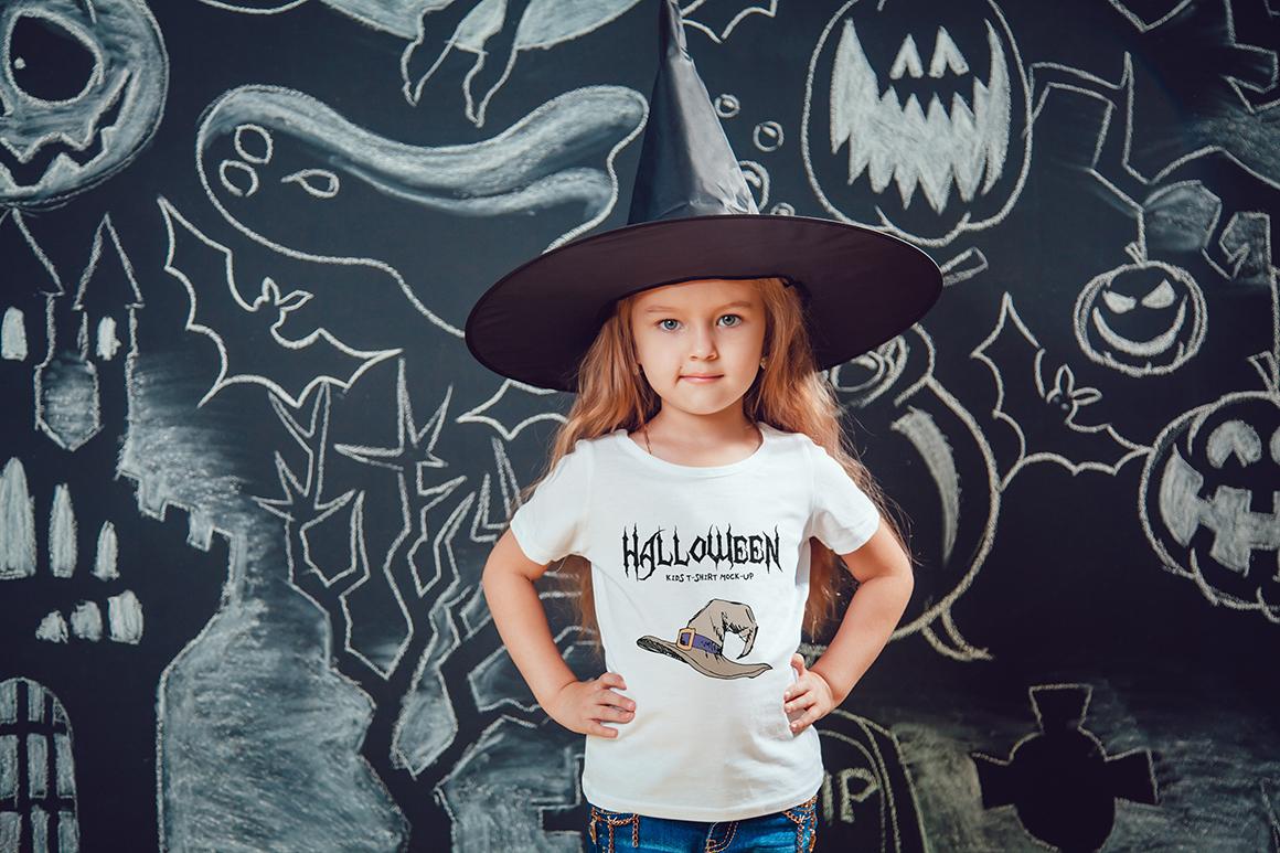 Halloween Kids T-Shirt Mock-Up example image 15