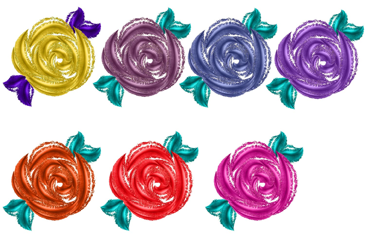 Metallic Roses Clipart example image 3