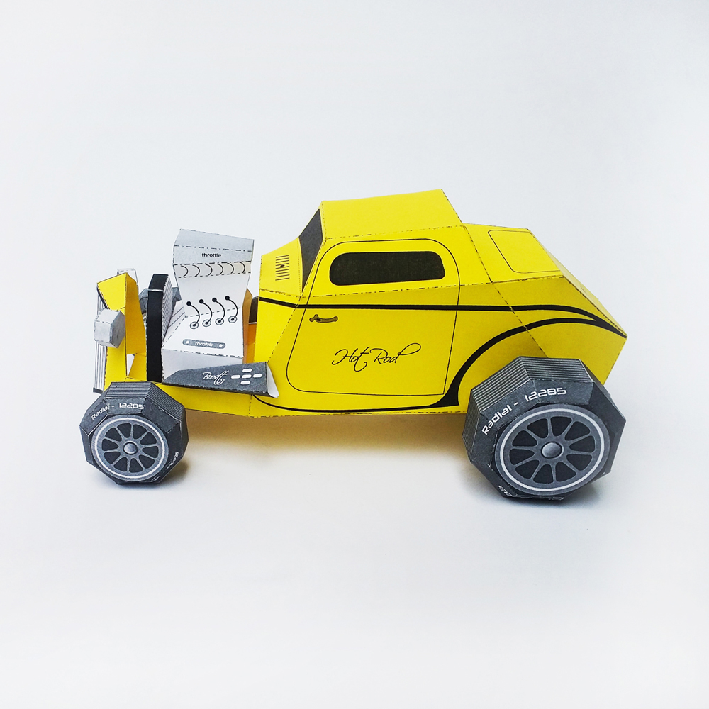 DIY Paper Car - 3d papercraft example image 4