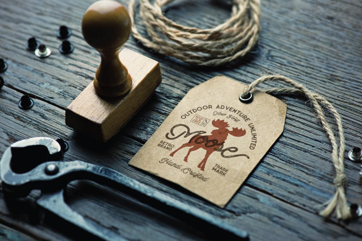 Moose Vintage Label example image 2
