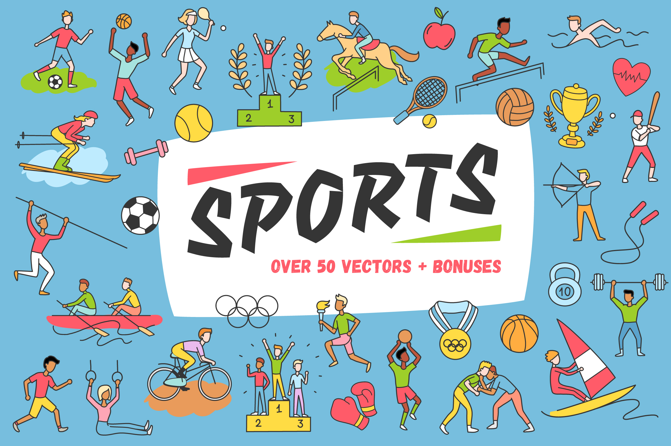 Sports Vectors  example image 1
