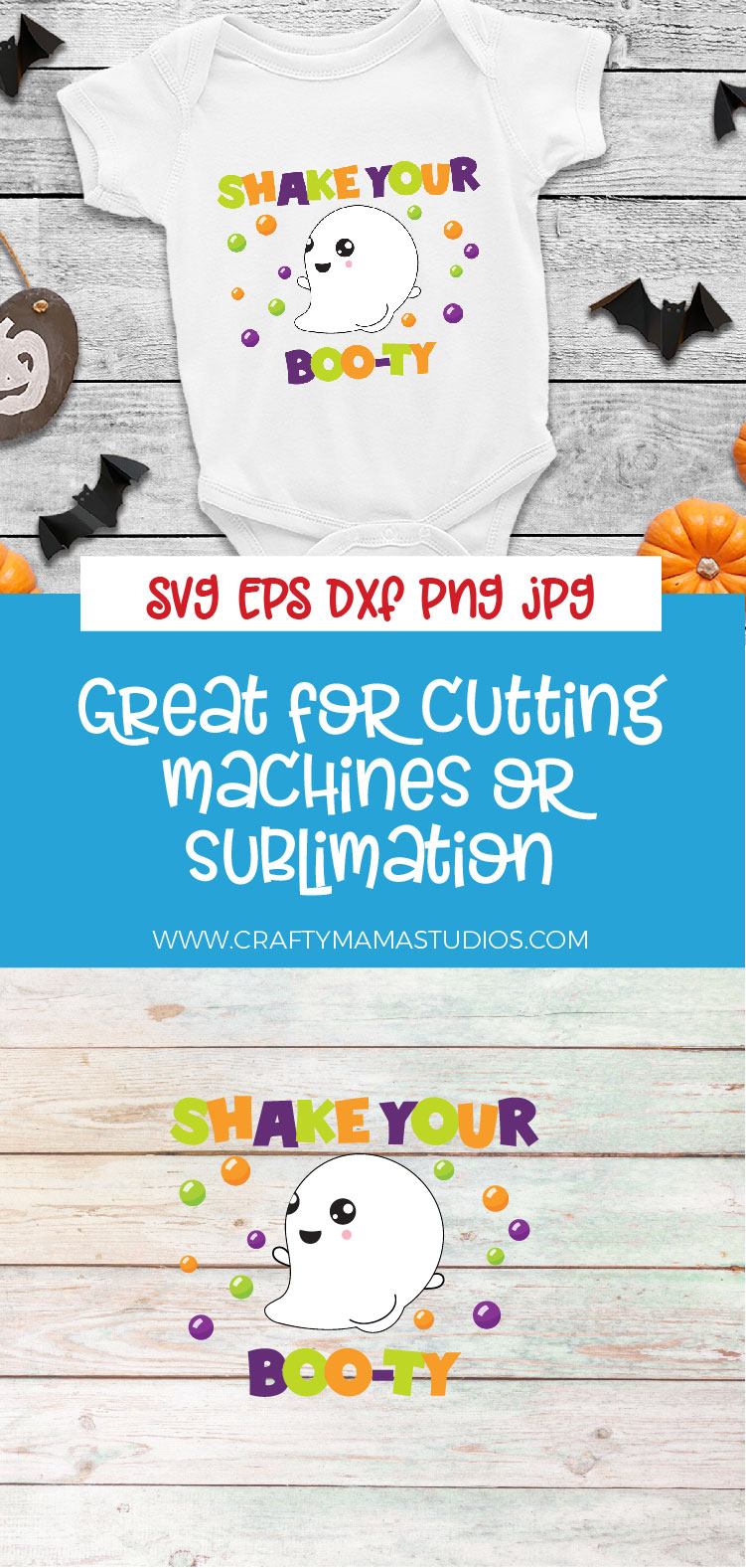 Shake Your Booty SVG Sublimation, Halloween Ghost SVG example image 3