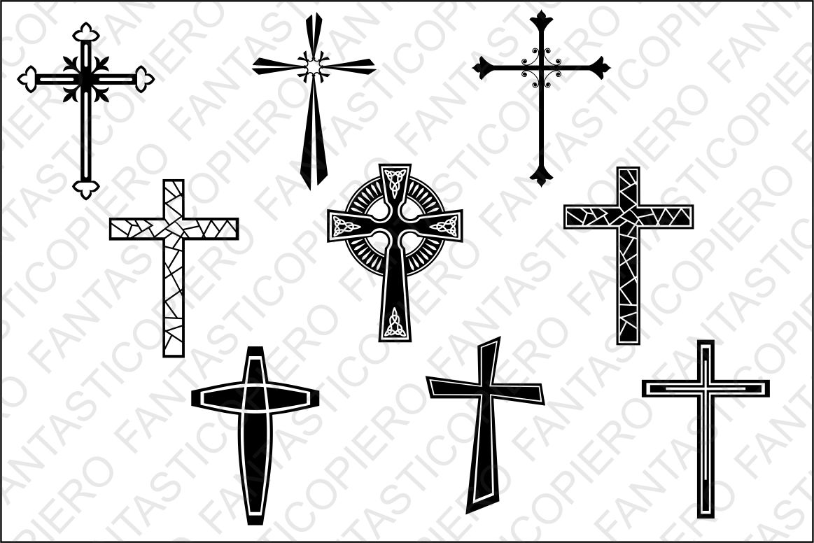 Crosses SVG files for Silhouette and Cricut. example image 1