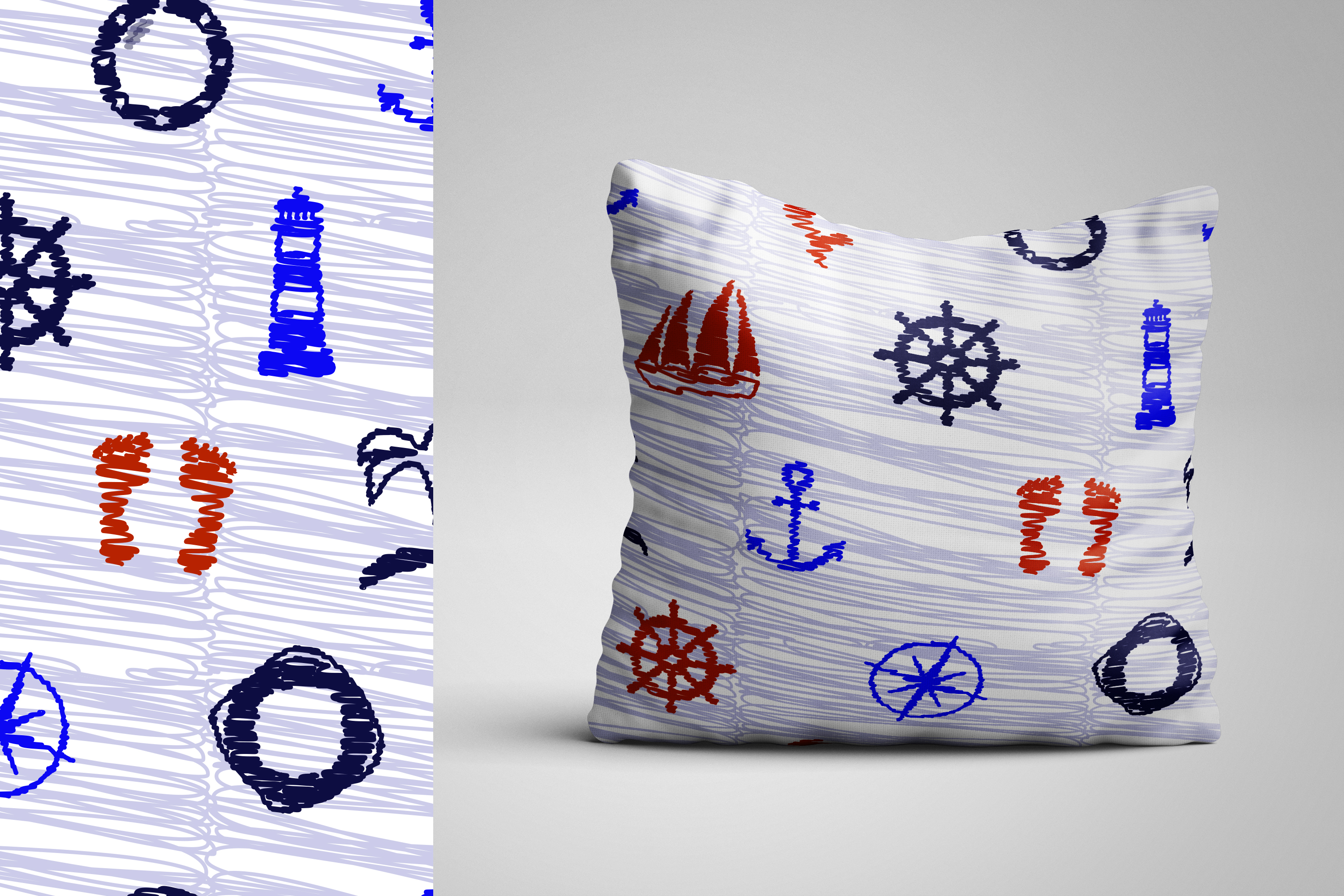 Vector nautical patterns. example image 4