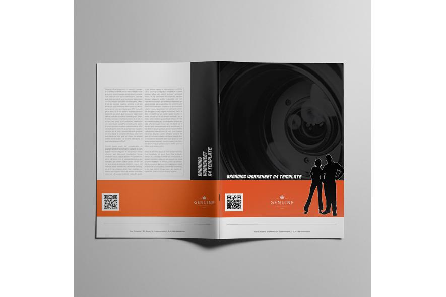 Branding Worksheet A4 Template example image 5
