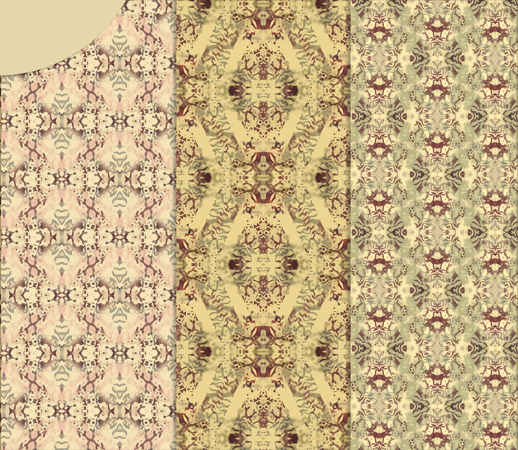 Vintage Abstract Patterns, Digital Scrapbook Paper example image 2