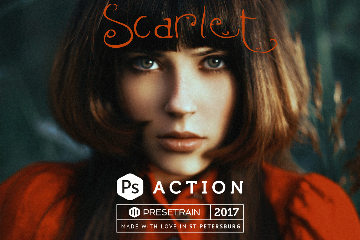Scarlet Fantasy Photoshop Action example image 1