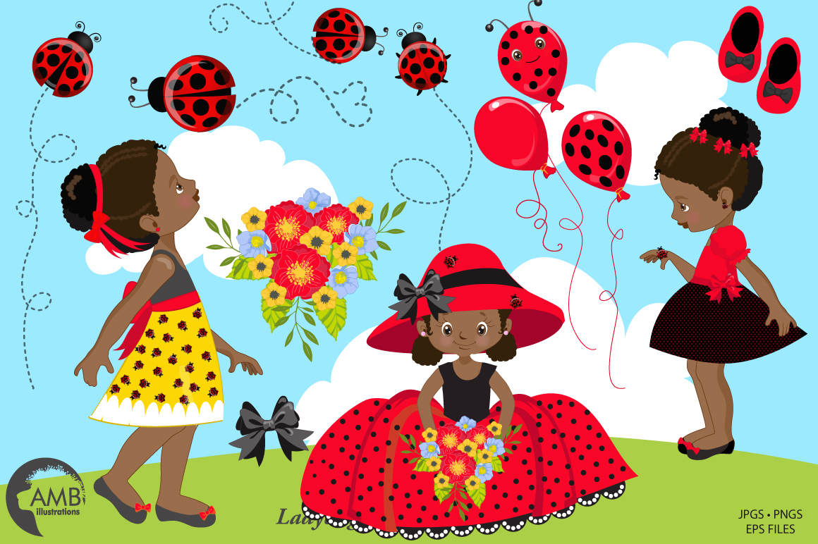 Sweet little ladies graphics, clipart, illustrations AMB-1598 example image 5