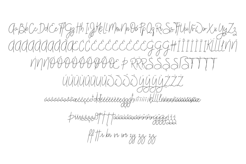 FONT DUO Handwritten Cursive handwriting Script - Posch example image 13