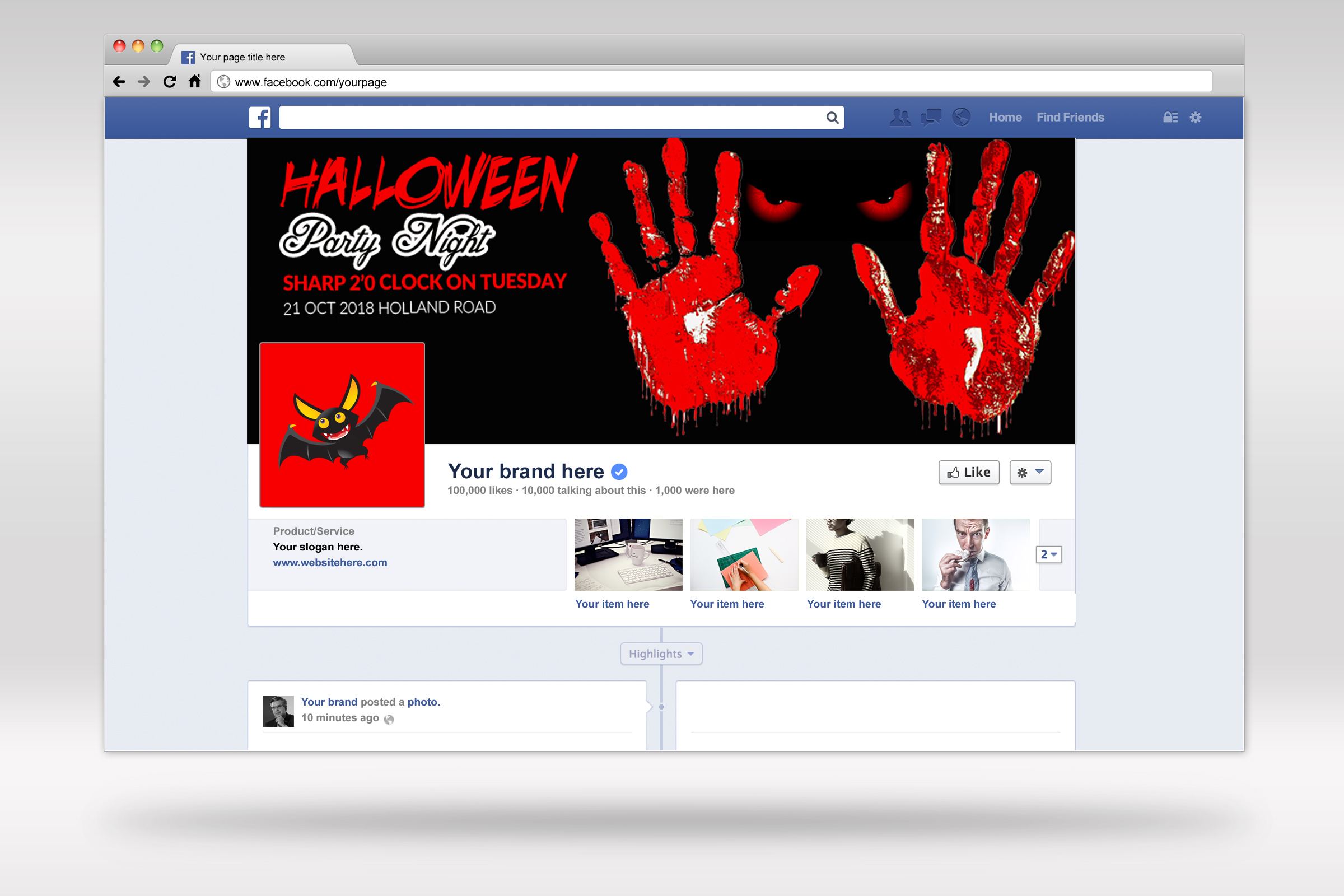 Halloween Party Night Facebook Timeline Cover example image 2