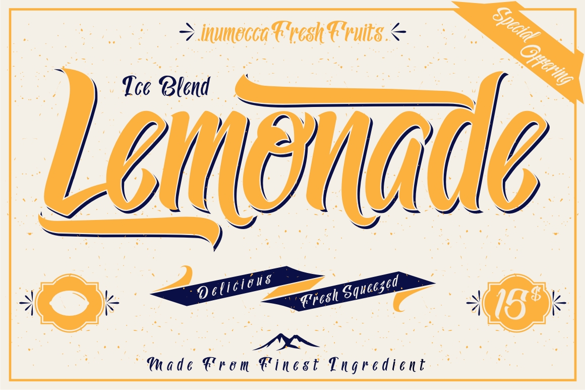 Lemonade Typeface with 5 Badges Bonus example image 2