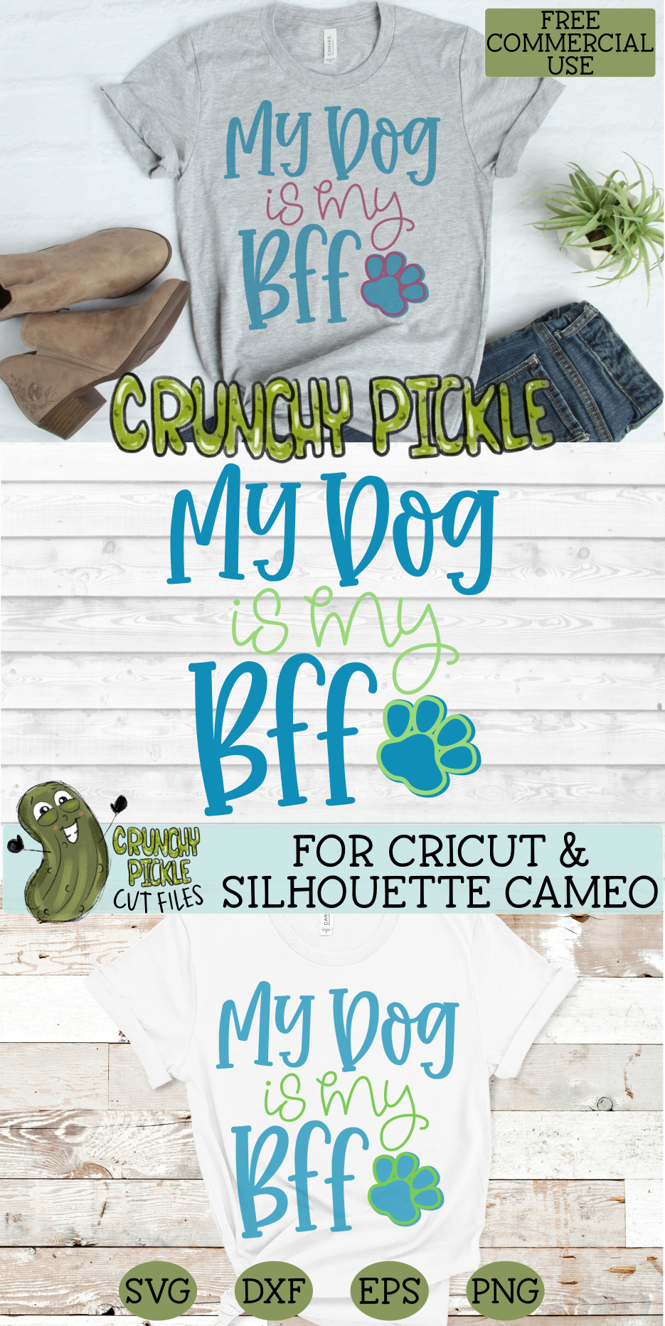 My Dog is my BFF SVG Cut File example image 4