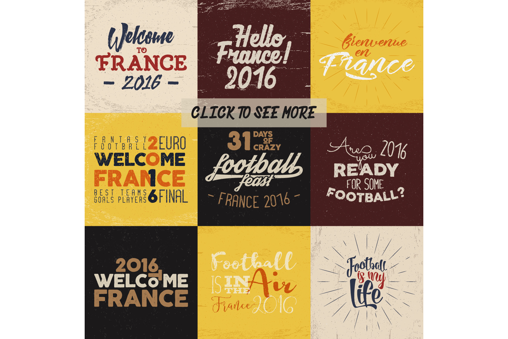 France 2016 Football Euro Labels example image 2