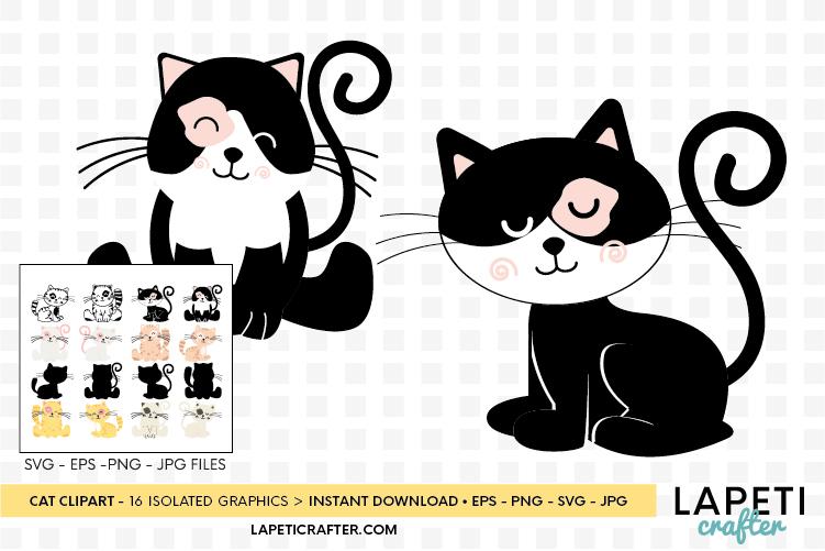 Cat clipart, kitten cats clipart, kitty clip art digital example image 4