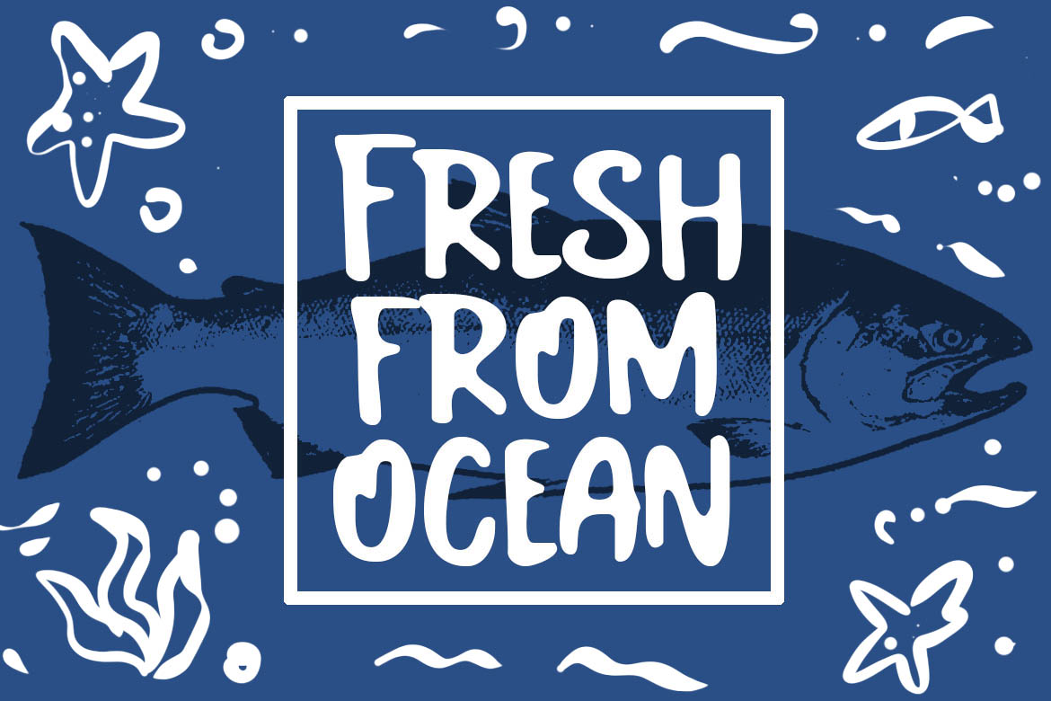 Salmon Fancy Font example image 2