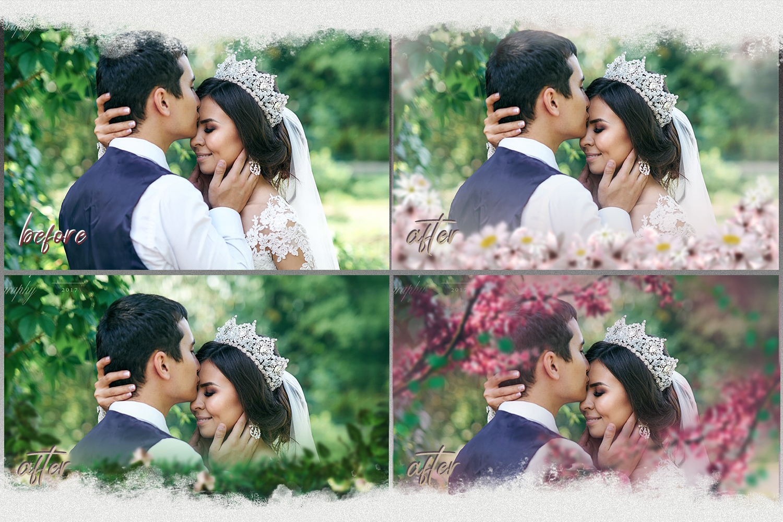 Art flowers overlays frame templates wedding example image 3