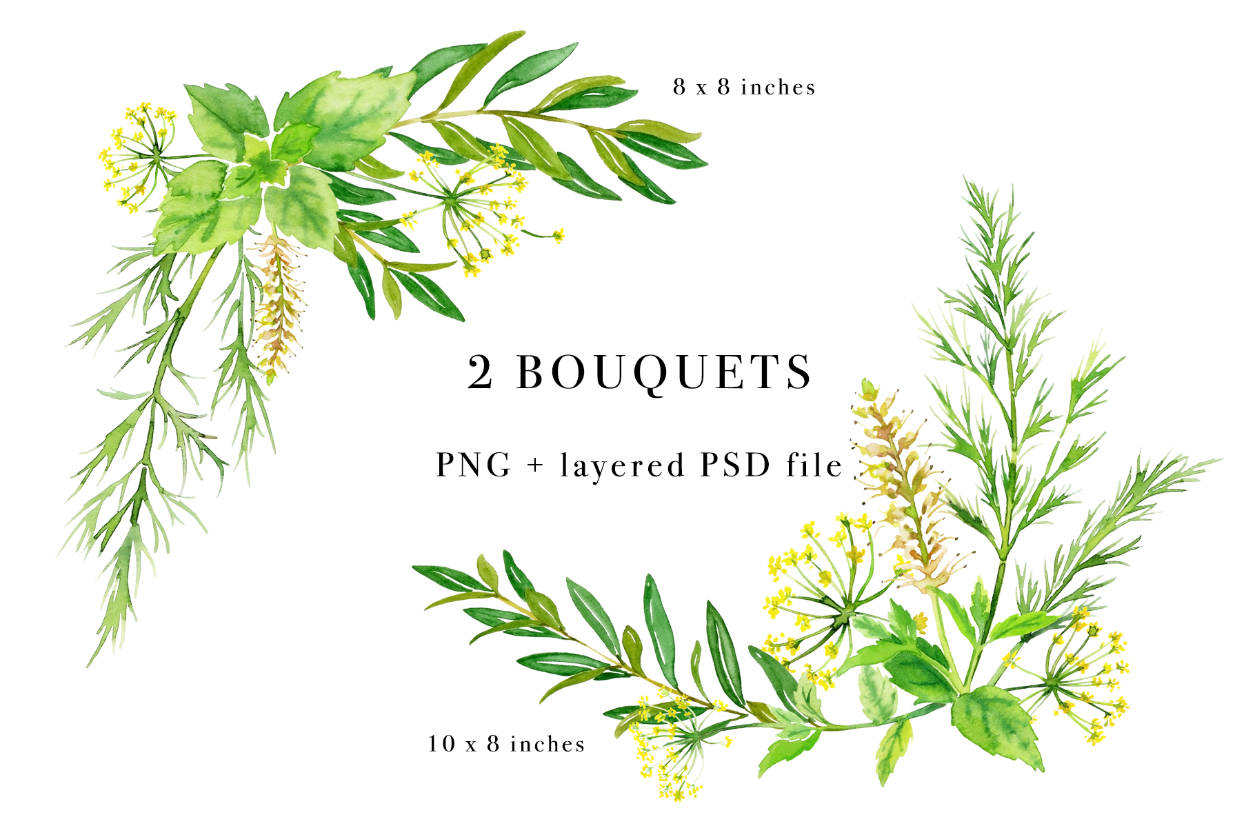 Floral Watercolor Bundle example image 10