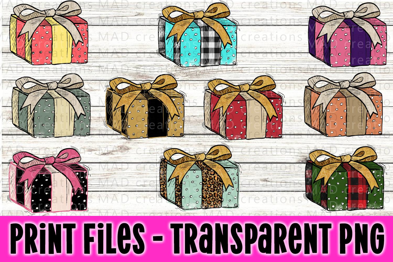 10 Christmas Present Gift Bundle - Print Files example image 1