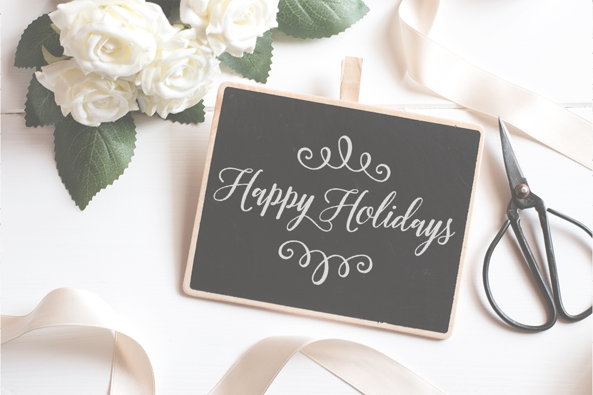 Happy Holidays Christmas SVG Cutting Files example image 2