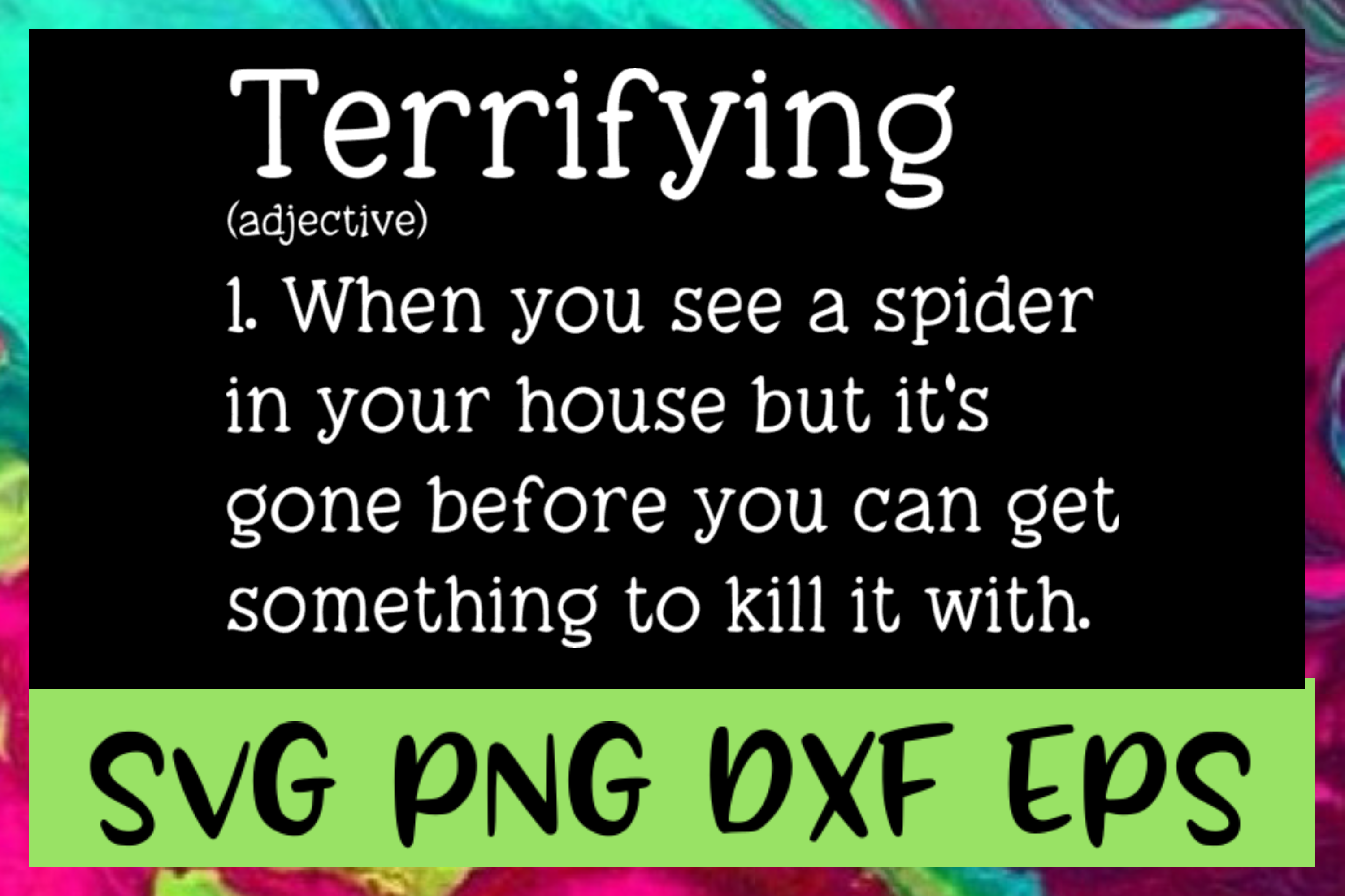 Terrifying Definition SVG PNG DXF & EPS Design Files example image 1