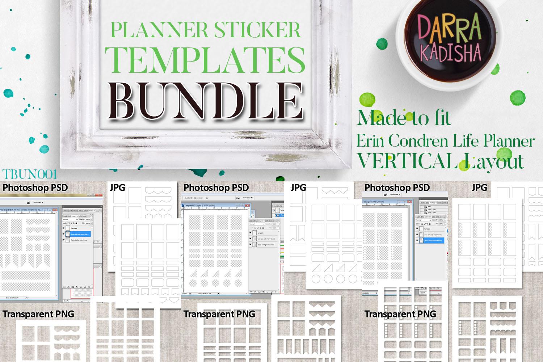 Templates Bundle Vol. 1 - Planner Stickers Digital DIY Kit example image 2